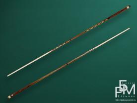 Бильярдный кий ручной работы из змеиного дерева (Premier League - 25) класичесский, двухсоставной