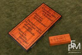Эксклюзивные нарды «Дух Революции» задняя часть с футляром для фишек и костей