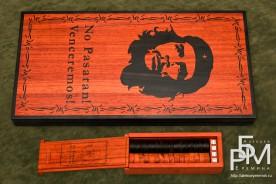 Эксклюзивные нарды «Дух Революции» лицевая часть с коробкой для фишек и костей