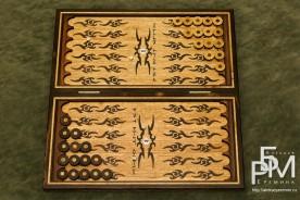 Эксклюзивные нарды «Руна Одина» открытая доска с фишками